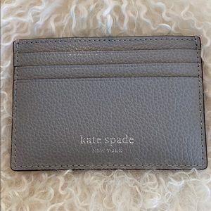 Kate Spade Eva Small Slim Card Holder - Grey